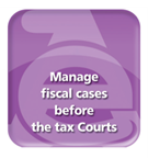 Manage fiscal cases before the tax Courts