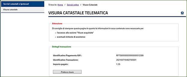 Schede Visura Catastale Guida Al Servizio Visura Catastale Telematica Agenzia Delle Entrate